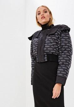 Пуховик, Versus Versace, цвет: черный. Артикул: VE027EWBVAX0. Premium / Одежда / Верхняя одежда / Зимние куртки
