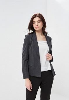 Пиджак, Vero Moda, цвет: серый. Артикул: VE389EWAFVA5. Одежда