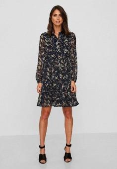 Платье, Vero Moda, цвет: синий. Артикул: VE389EWBXTV6. Одежда / Платья и сарафаны
