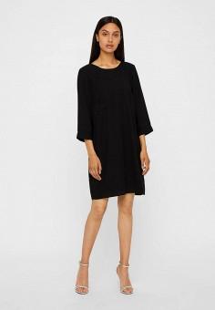 Платье, Vero Moda, цвет: черный. Артикул: VE389EWBXUN6. Одежда / Платья и сарафаны