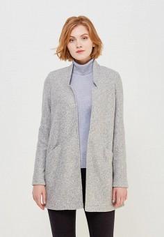 Пальто, Vero Moda, цвет: серый. Артикул: VE389EWZKS55. Одежда / Верхняя одежда / Пальто