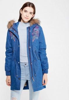 Парка, V&Florence, цвет: синий. Артикул: VF001EWVFF66. Одежда / Верхняя одежда / Парки