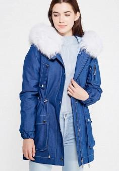 Парка, V&Florence, цвет: синий. Артикул: VF001EWVFF79. Одежда / Верхняя одежда / Зимние куртки