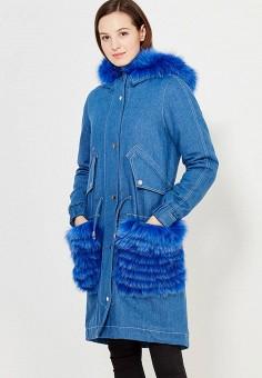 Парка, V&Florence, цвет: синий. Артикул: VF001EWVFF89. Одежда / Верхняя одежда / Парки
