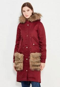Парка, V&Florence, цвет: бордовый. Артикул: VF001EWVFF90. Одежда / Верхняя одежда / Парки