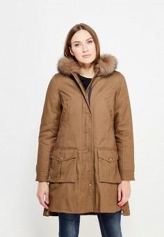 Парка, V&Florence, цвет: коричневый. Артикул: VF001EWVFF92. Одежда / Верхняя одежда / Парки