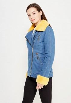Куртка утепленная, V&Florence, цвет: голубой. Артикул: VF001EWVFG06. Одежда / Верхняя одежда / Джинсовые куртки
