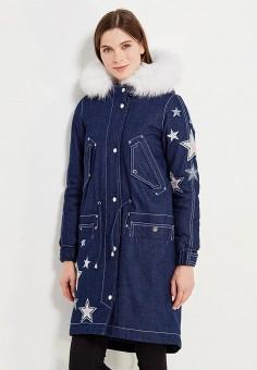 Парка, V&Florence, цвет: синий. Артикул: VF001EWVFG09. Одежда / Верхняя одежда / Парки