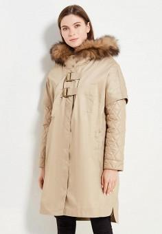 Парка, V&Florence, цвет: бежевый. Артикул: VF001EWVFG14. Одежда / Верхняя одежда / Демисезонные куртки