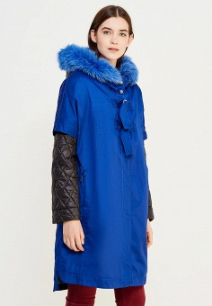 Парка, V&Florence, цвет: синий. Артикул: VF001EWVFG16. Одежда / Верхняя одежда / Парки