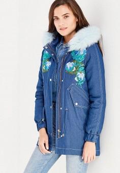 Парка, V&Florence, цвет: синий. Артикул: VF001EWVFG18. Одежда / Верхняя одежда / Парки
