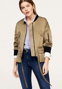 Куртка, Violeta by Mango, цвет: бежевый. Артикул: VI005EWAQUJ4. Одежда / Верхняя одежда / Легкие куртки и ветровки