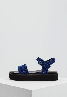 Босоножки, Weekend Max Mara, цвет: синий. Артикул: WE017AWADSZ2. Premium / Обувь / Босоножки