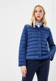 Пуховик, Weekend Max Mara, цвет: синий. Артикул: WE017EWBSZI8. Premium / Одежда / Верхняя одежда / Зимние куртки