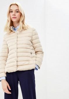 Пуховик, Weekend Max Mara, цвет: бежевый. Артикул: WE017EWBSZJ0. Premium / Одежда / Верхняя одежда / Зимние куртки