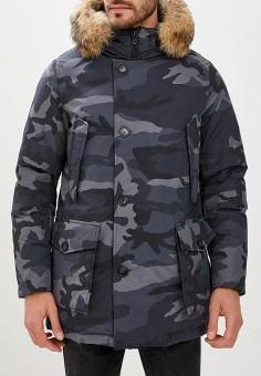 Пуховик, Woolrich, цвет: серый. Артикул: WO256EMCEZI8. Одежда / Верхняя одежда