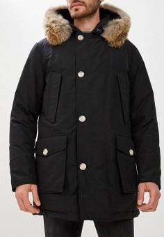Пуховик, Woolrich, цвет: черный. Артикул: WO256EMCFRA6. Одежда / Верхняя одежда