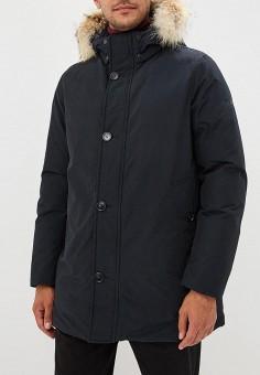 Пуховик, Woolrich, цвет: синий. Артикул: WO256EMCFRA7. Одежда / Верхняя одежда
