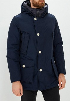 Пуховик, Woolrich, цвет: синий. Артикул: WO256EMKWT31. Одежда / Верхняя одежда