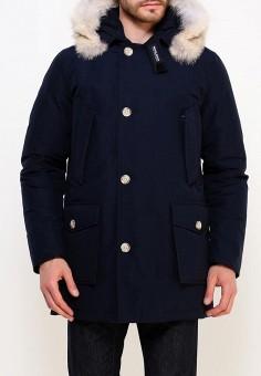 Пуховик, Woolrich, цвет: синий. Артикул: WO256EMUPH55. Одежда / Верхняя одежда