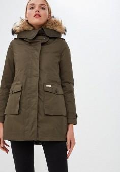 Пуховик, Woolrich, цвет: хаки. Артикул: WO256EWCEZK0. Premium / Одежда / Верхняя одежда / Зимние куртки
