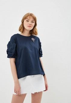 Блуза, Zarina, цвет: синий. Артикул: ZA004EWBMHV3. Одежда