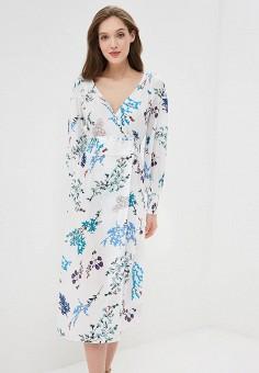 Платье, Zarina, цвет: белый. Артикул: ZA004EWBUCM1. Одежда / Платья и сарафаны