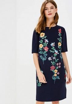 Платье, Zarina, цвет: синий. Артикул: ZA004EWBUCS5. Одежда / Платья и сарафаны