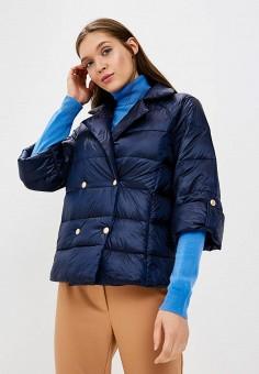 Пуховик, Zarina, цвет: синий. Артикул: ZA004EWBUDE8. Одежда / Верхняя одежда / Зимние куртки