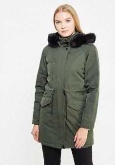 Парка, Zarina, цвет: зеленый. Артикул: ZA004EWXRM18. Одежда / Верхняя одежда / Парки