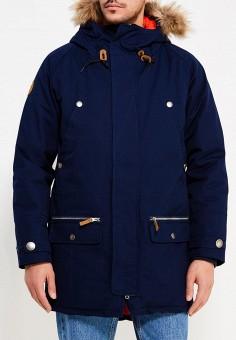 Парка, Запорожец Heritage, цвет: синий. Артикул: ZA008EMZAJ31. Одежда / Верхняя одежда / Пуховики и зимние куртки