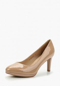 Туфли, Zenden Woman, цвет: бежевый. Артикул: ZE009AWAEFI9. Обувь / Туфли / Закрытые туфли