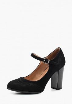 Туфли, Zenden Woman, цвет: черный. Артикул: ZE009AWAEFJ1. Обувь / Туфли / Закрытые туфли