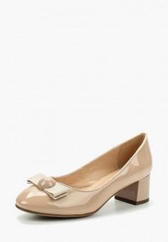 Туфли, Zenden Woman, цвет: бежевый. Артикул: ZE009AWAEFK5. Обувь / Туфли / Закрытые туфли