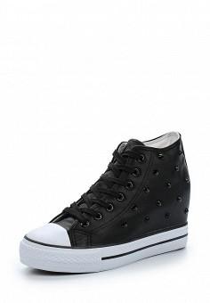 Кеды на танкетке, Zona3, цвет: черный. Артикул: ZO004AWAWHG8. Обувь / Кроссовки и кеды / Кеды