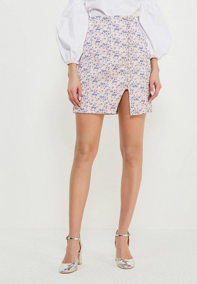 Юбка LOST INK JACQUARD BUTTON MINI SKIRT