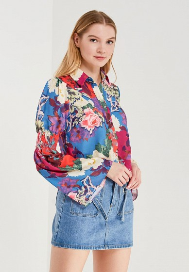 Рубашка LOST INK SHIRRED SLEEVE FLORAL PRINTED SHIRT