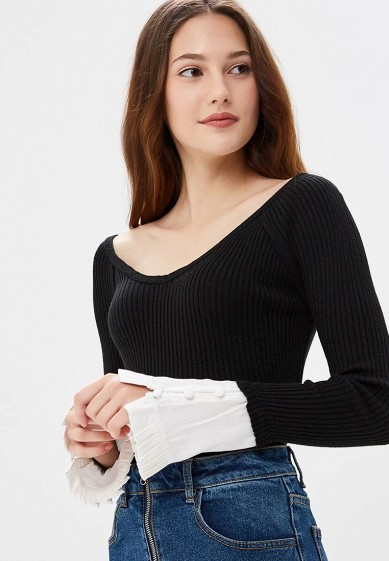 Пуловер LOST INK WOVEN FRILL CUFF OFF SHOULDER JUMPER