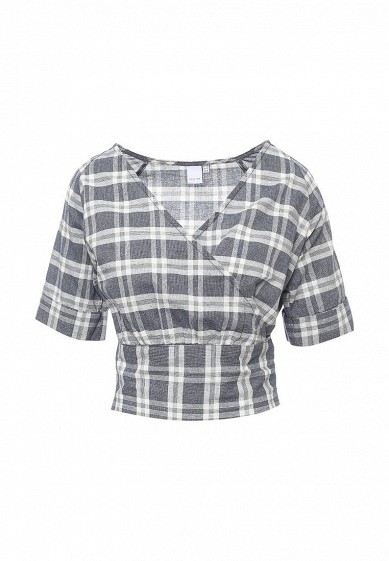Блуза LOST INK WRAP CHECK CROPPED SHIRT