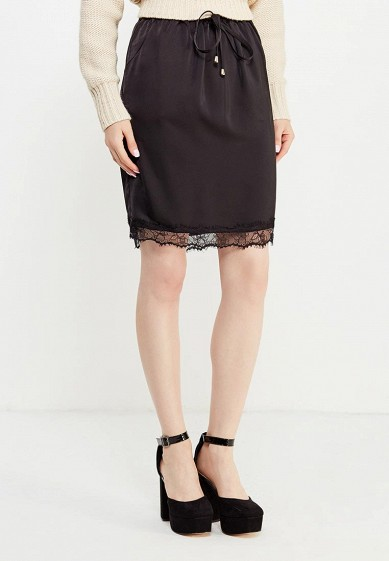 Юбка LOST INK LACE TRIM SATIN MINI