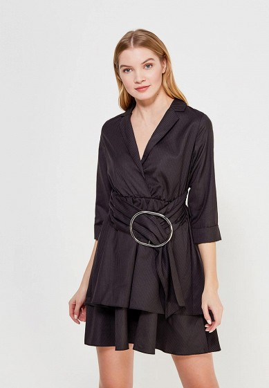 Платье LOST INK PINSTRIPE METAIL RING WRAP FIT AND FLARE