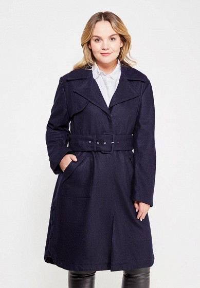 Пальто LOST INK PLUS TRENCH COAT IN WOOL MIX