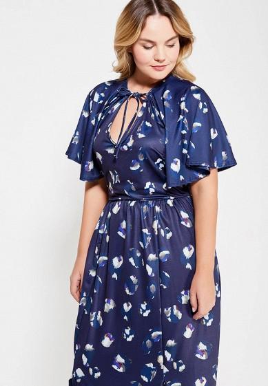 Платье макси с коротким рукавом