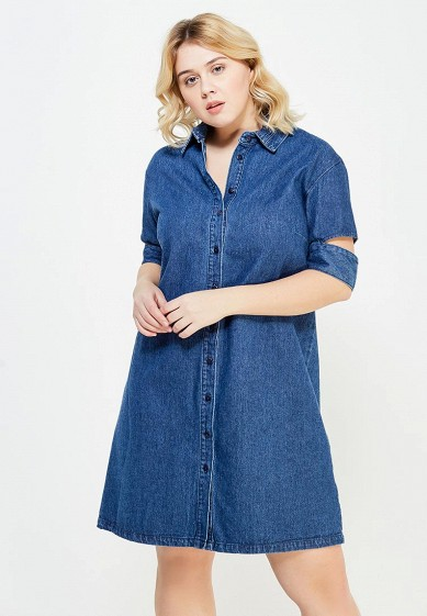 Платье джинсовое LOST INK PLUS DENIM SHIRT DRESS WITH CUTABOUT SLEEVES