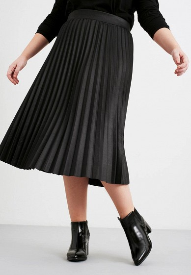 Юбка LOST INK PLUS PLEATED SKIRT IN COATED JERSEY