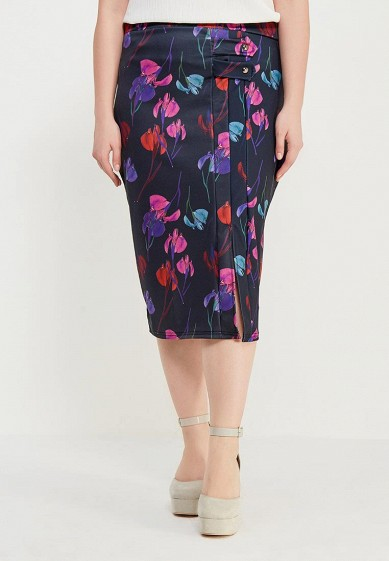 Юбка LOST INK PLUS PENCIL SKIRT IN RAINBOW ORCHID PRINT