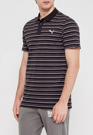 Поло PUMA ESS Sports Stripe Pique Polo