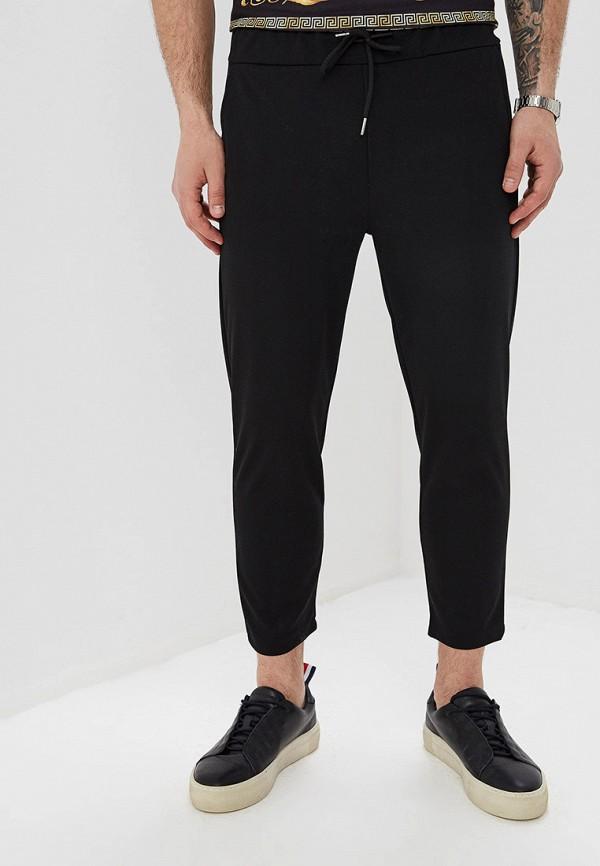 мужские зауженные брюки aarhon, черные