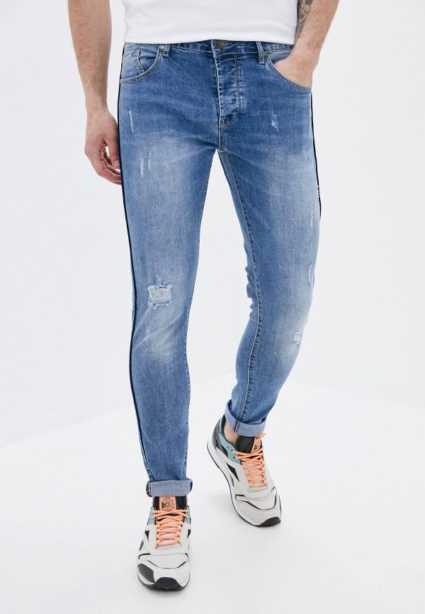 мужские зауженные джинсы aarhon, синие