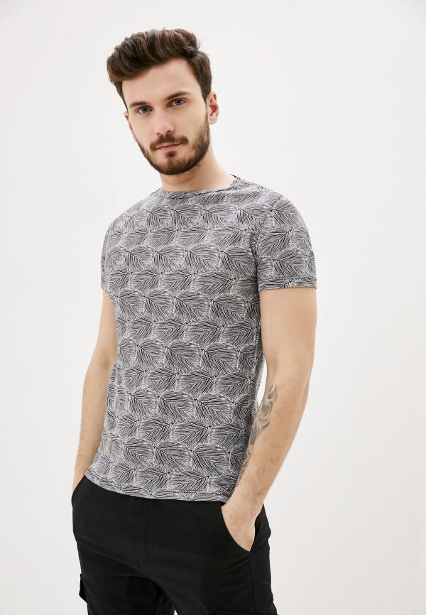 мужская футболка с коротким рукавом aarhon, серая
